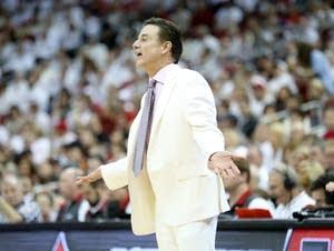 Louisville head coach Rick Pitino