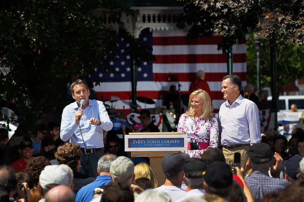 Pawlenty with Romney in Iowa