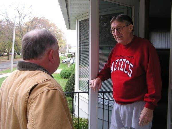 Tim Walz with  Duane Silker