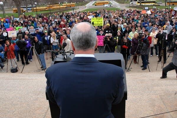 Gov. Dayton at rally