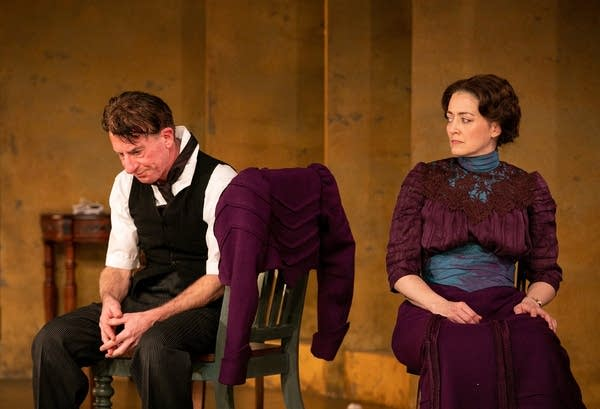 """Two actors play in """"A Doll's House, Part 2."""""""