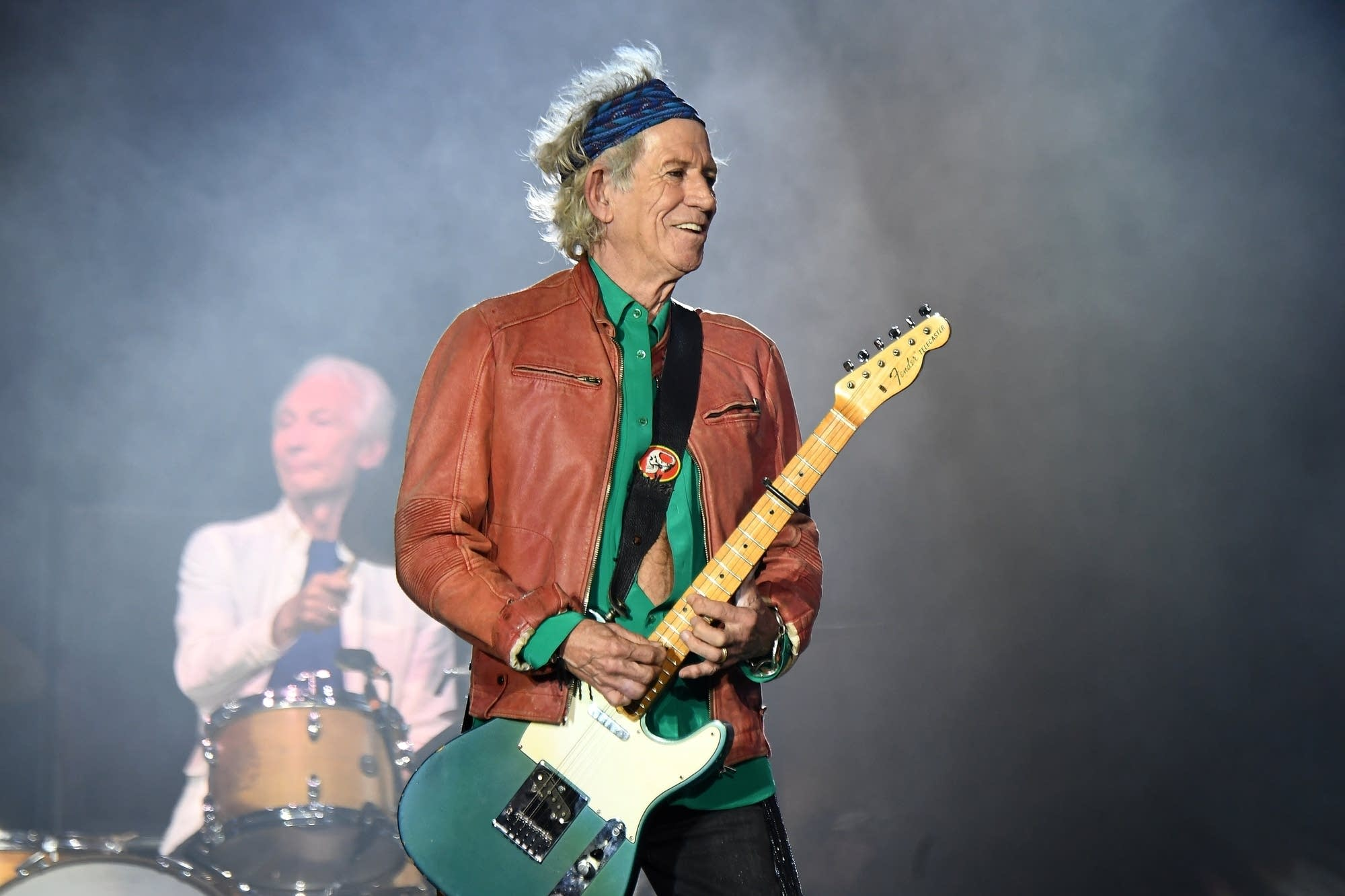 Keith Richards smiling onstage