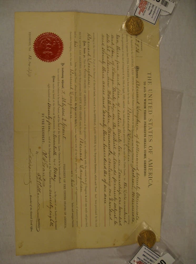Document signed by President Ulysses S. Grant