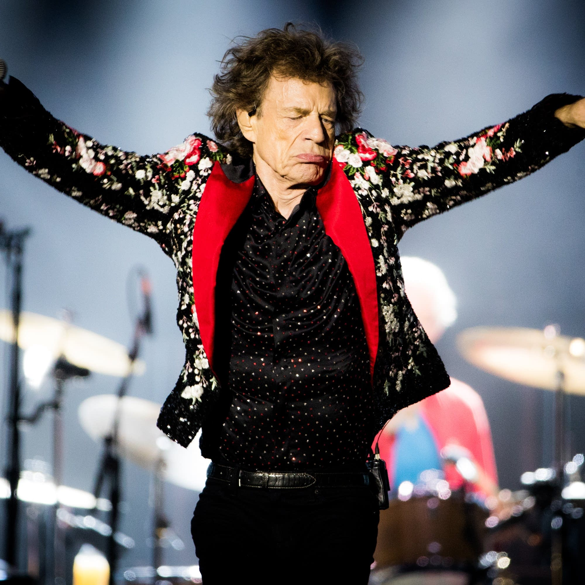 Mick Jagger performs with the Rolling Stones in Miami, 2019.