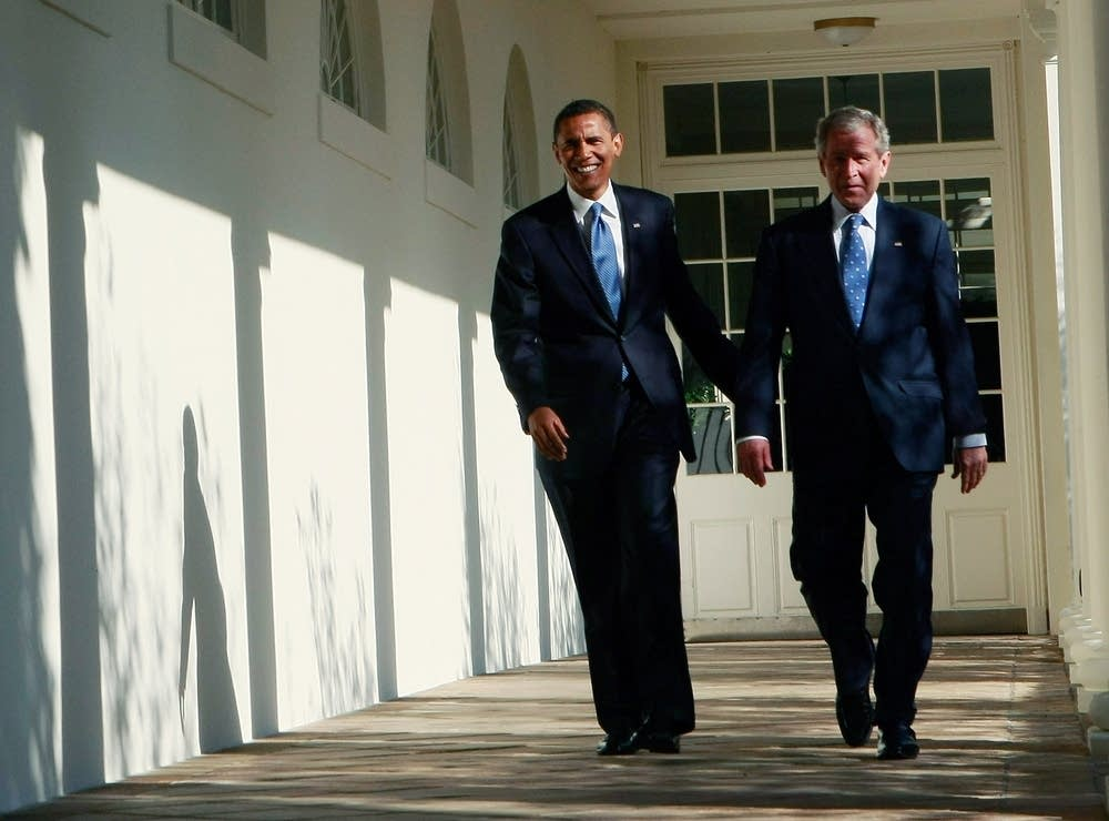 Bush welcomes President-elect Barack Obama