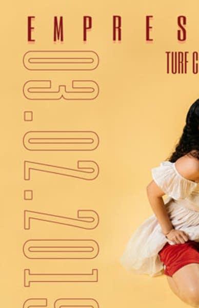 Empress Of 2018 tour poster