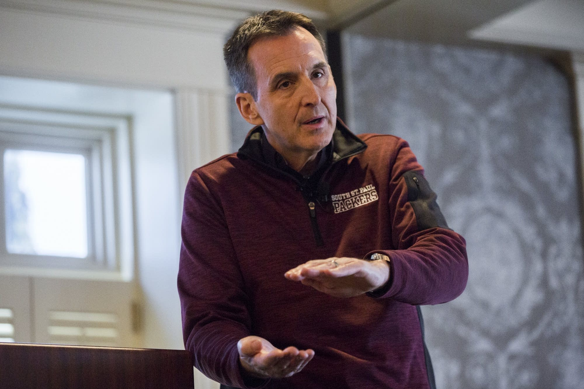 Tim Pawlenty speaks to members of multiple south metro chambers of commerce