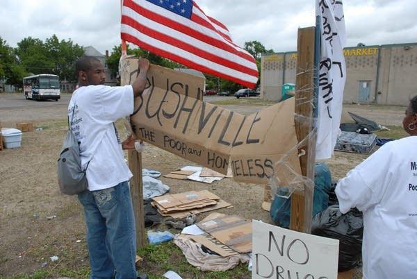Bushville Protester