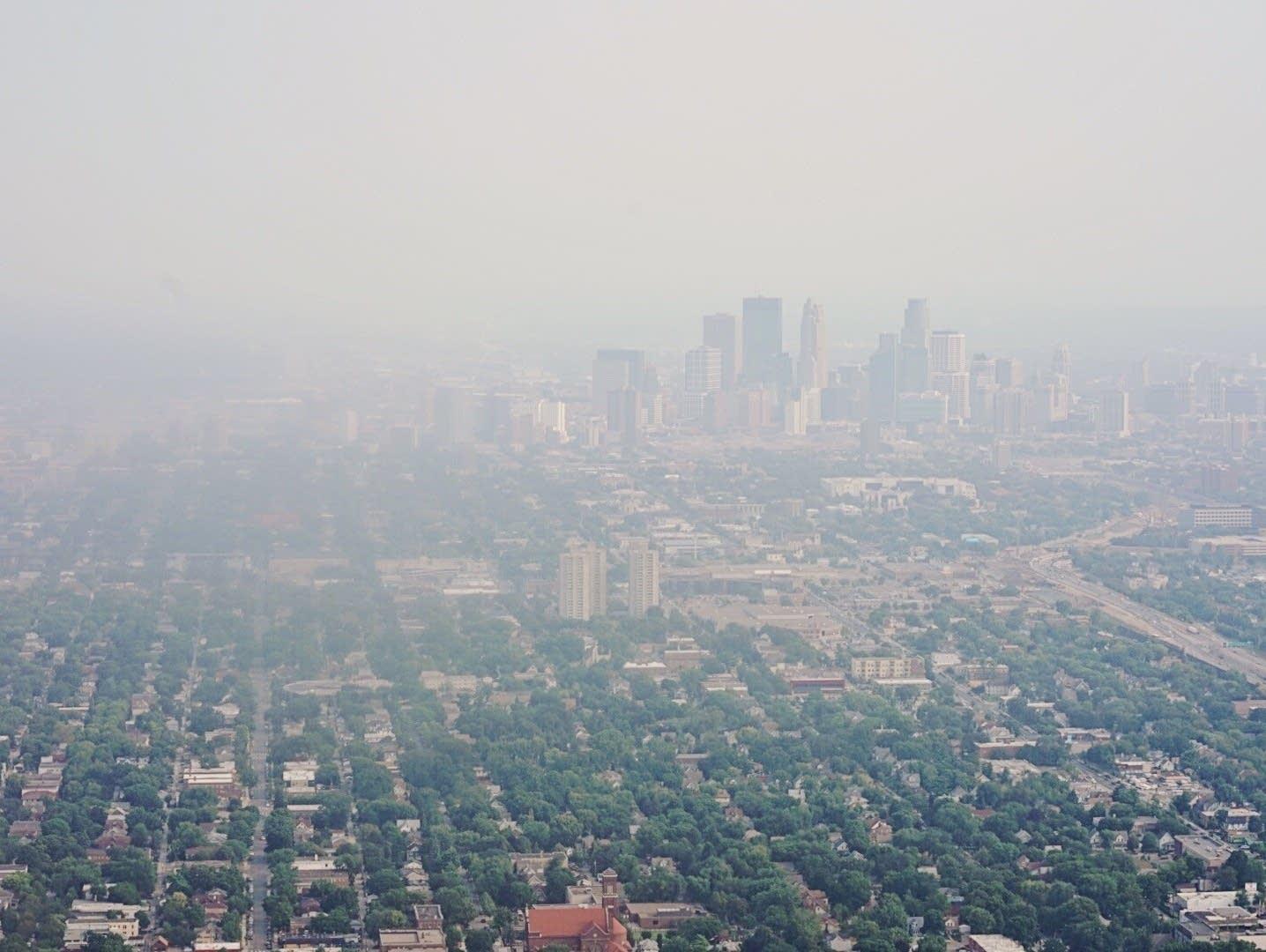 Smoky skies in Minnesota