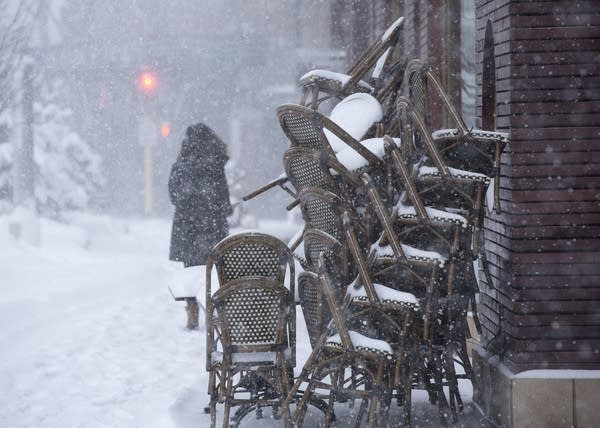 The spring blizzard brought wet, heavy snow and gusty winds in April 2018.