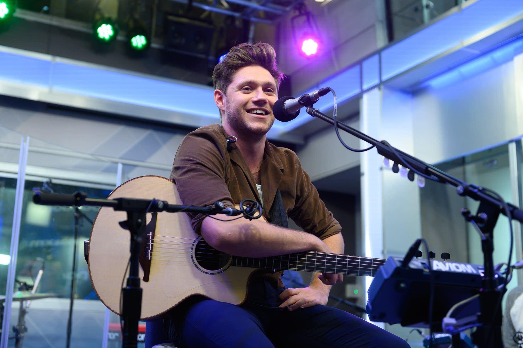 Niall Horan performing in New York