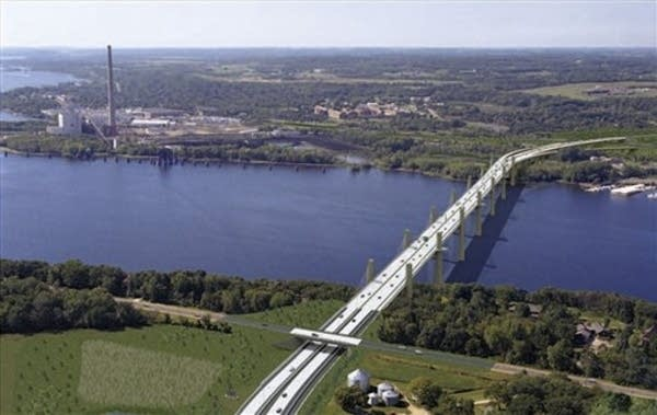 The proposed bridge.