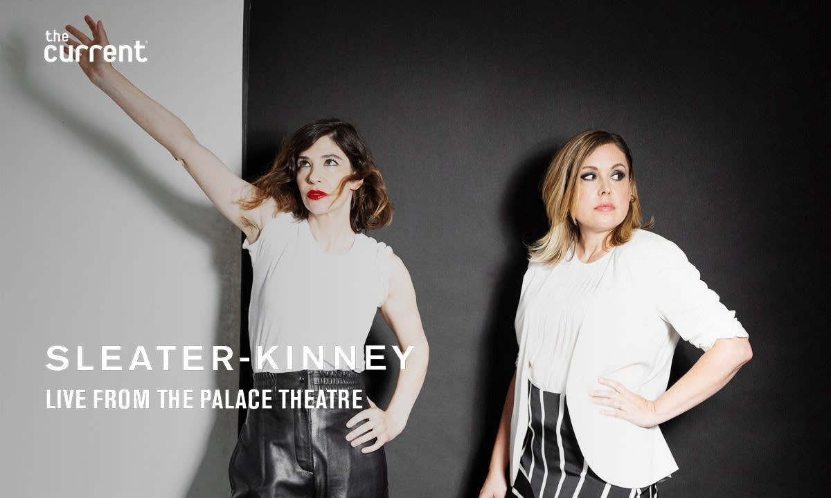 Sleater-Kinney live at the Palace Theatre with graphic layer