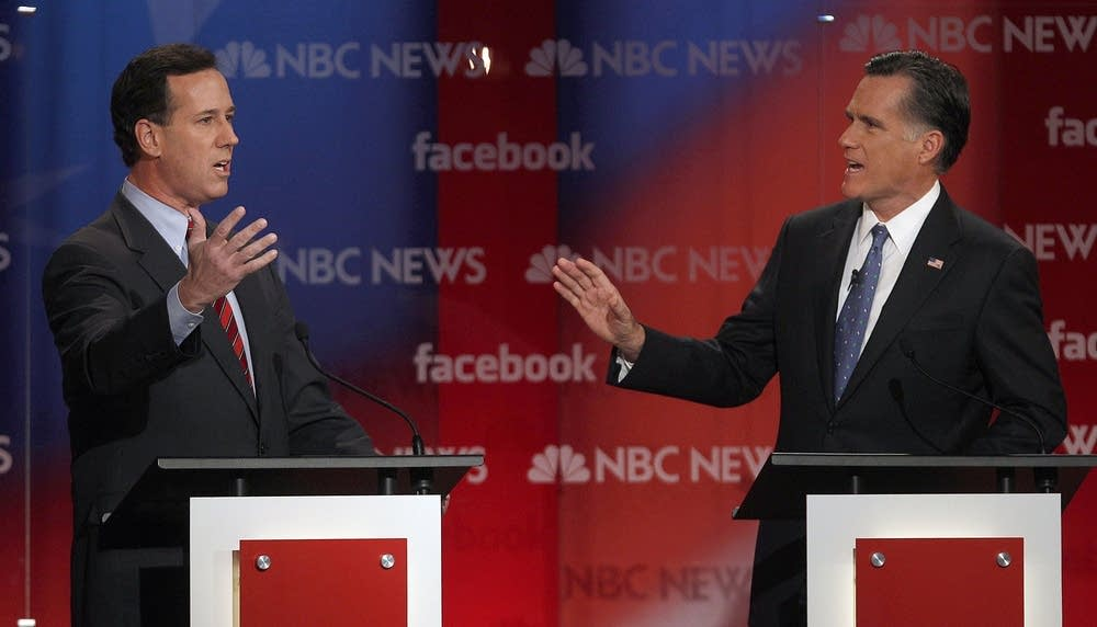 Mitt Romney, Rick Santorum