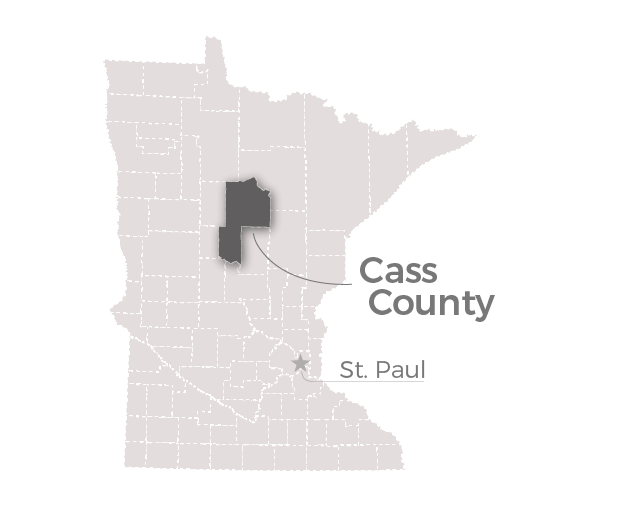 Map: Cass County, Minn.