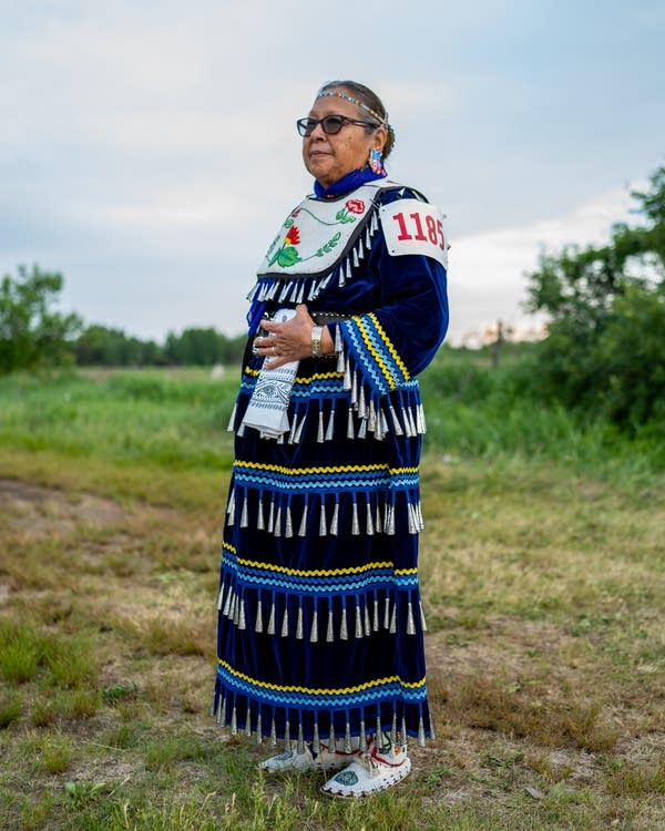 Elder Nelda Kapishkowit of the Menominee Nation of Wisconsin.