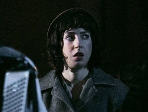 Miriam Schwartz rehearses the opening scene of