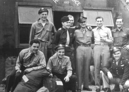 100th Air Group airmen pose outside Poobah Palace.