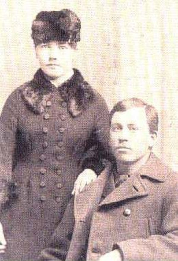 Laura Ingalls Wilder and her husband Almanzo, 1885