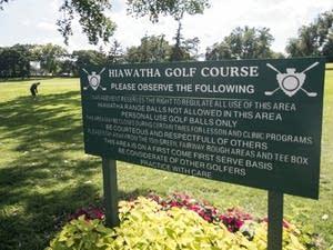 The rules at Hiawatha Public Golf Course in Minneapolis