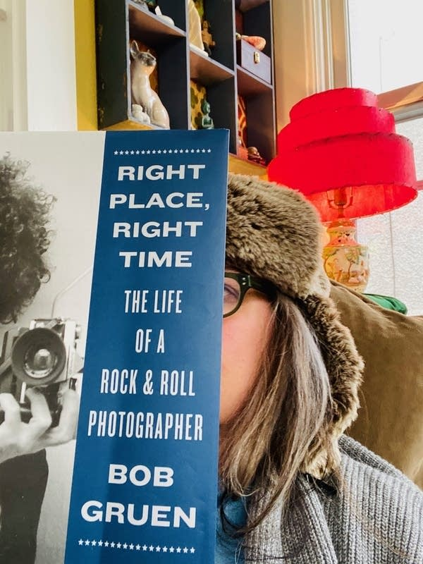 Mary Lucia with Bob Gruen's book