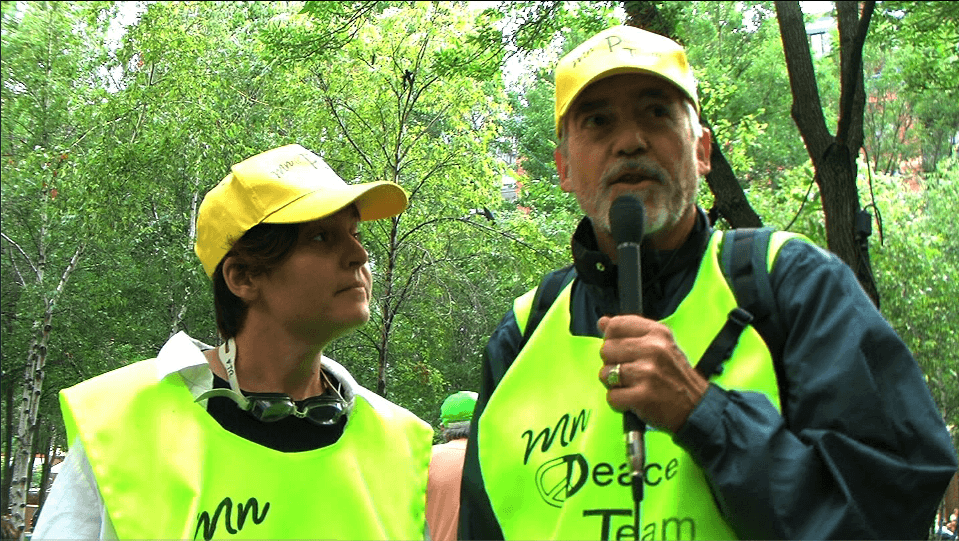Peace Team volunteers
