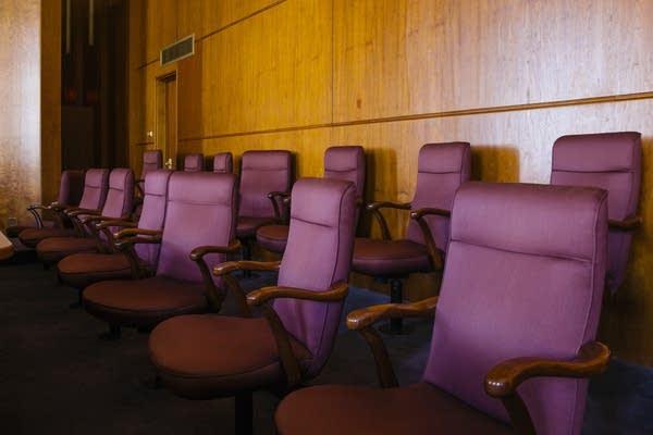 Empty jury box