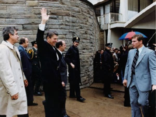 Reagan, just before the shooting