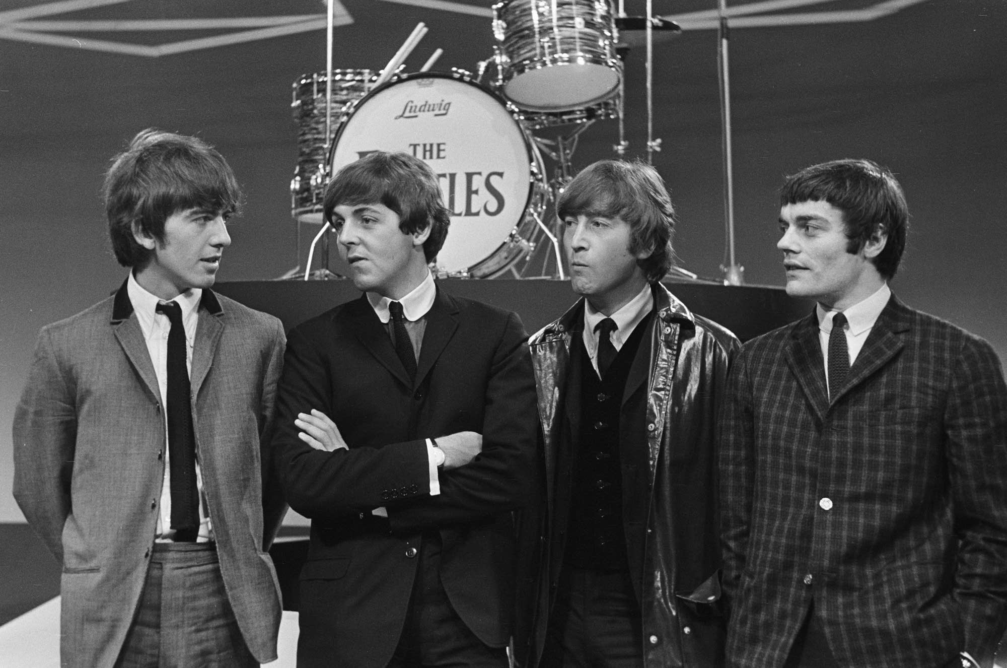 Jimmie Nicol (far right) with the Beatles in 1964