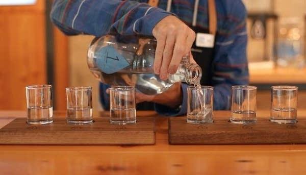 Bottoms up at the Water Bar