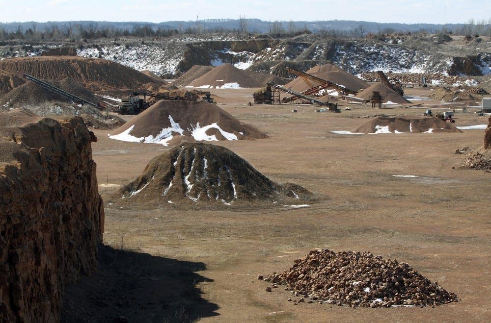 Frac sand mining