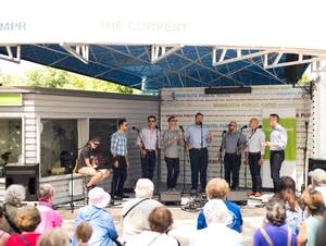 Cantus performs at the MPR booth at the Minnesota State Fair