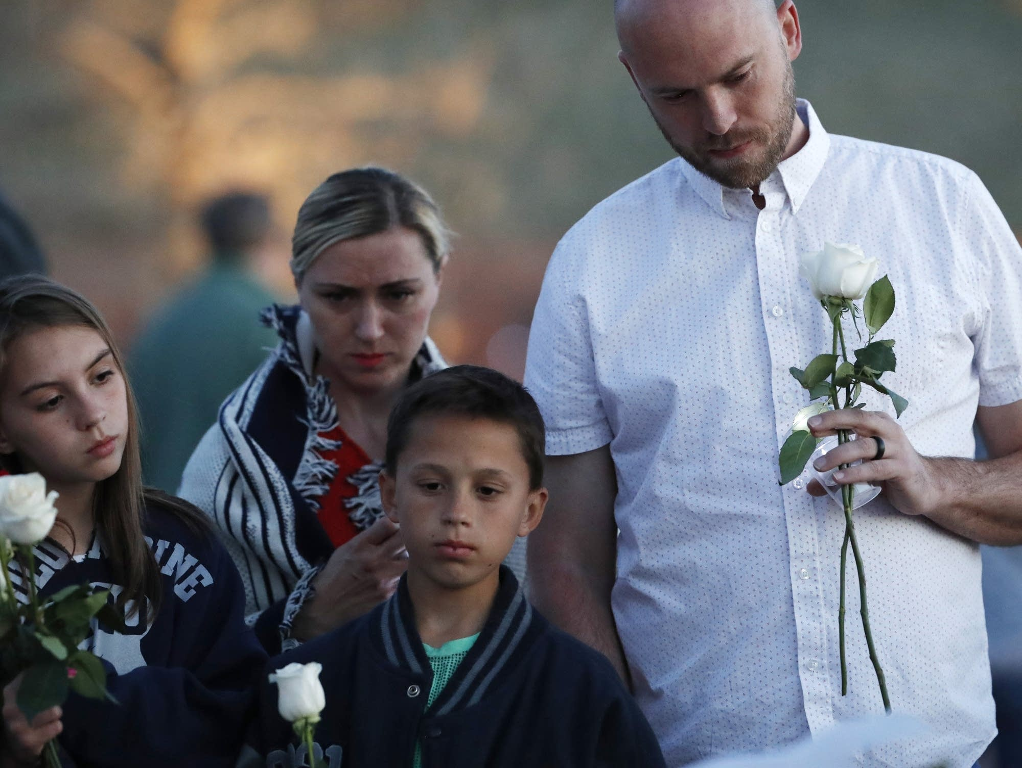 Will Beck at the Columbine Memorial