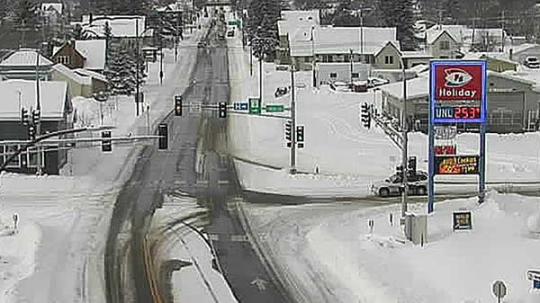 Highway 61 in Two Harbors, Minn.
