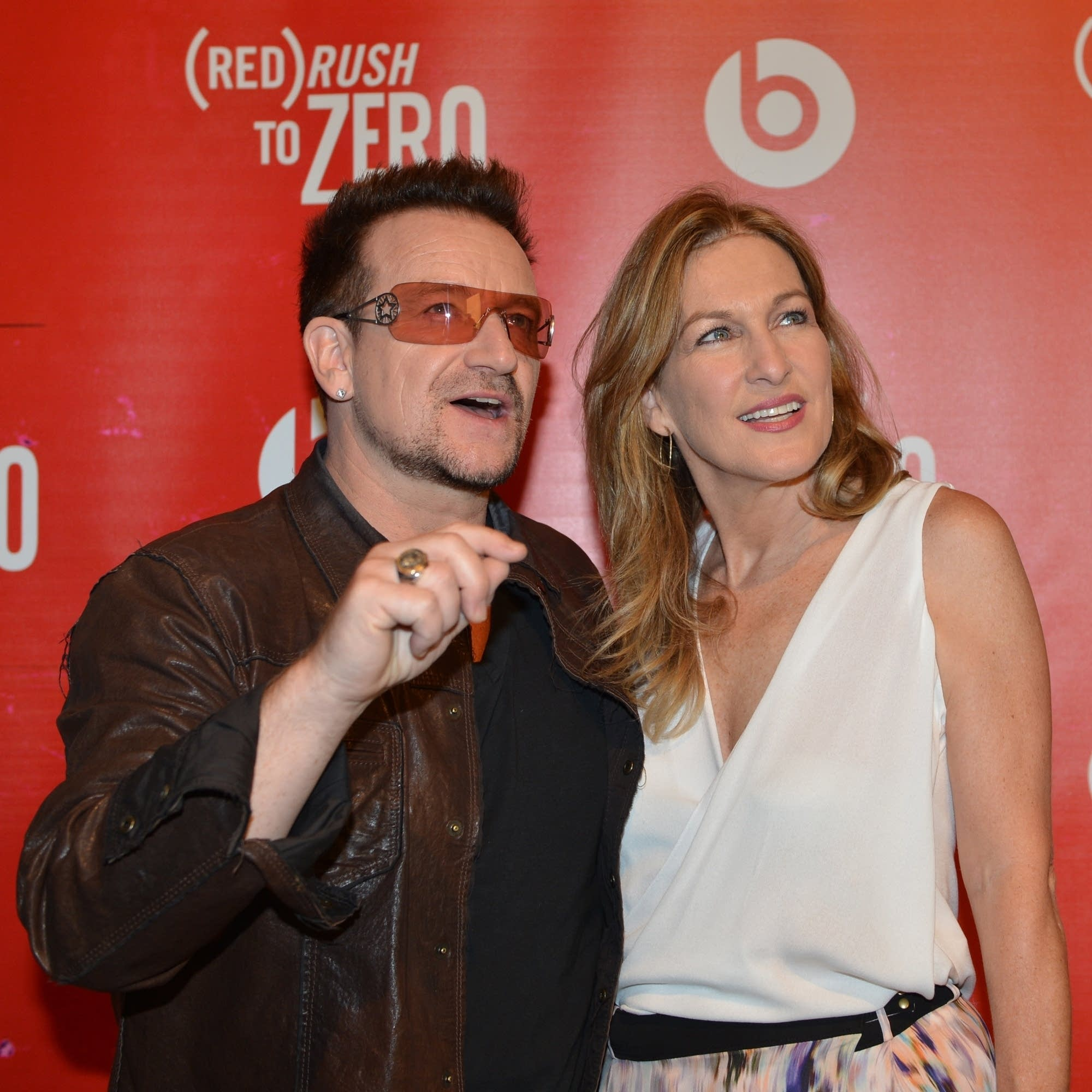 Deborah Dugan with Bono at a (RED) event in 2012.