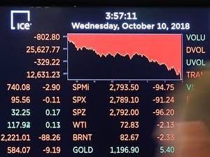 Dow plunges over 800 points