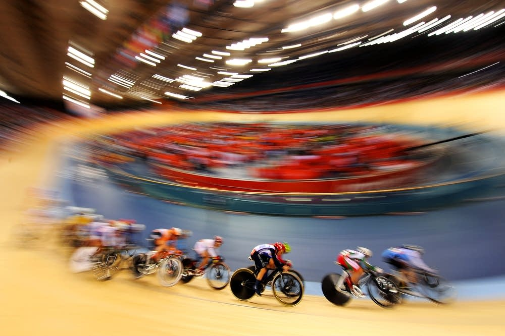 The Women's Omnium Track Cycling 20km Points Race
