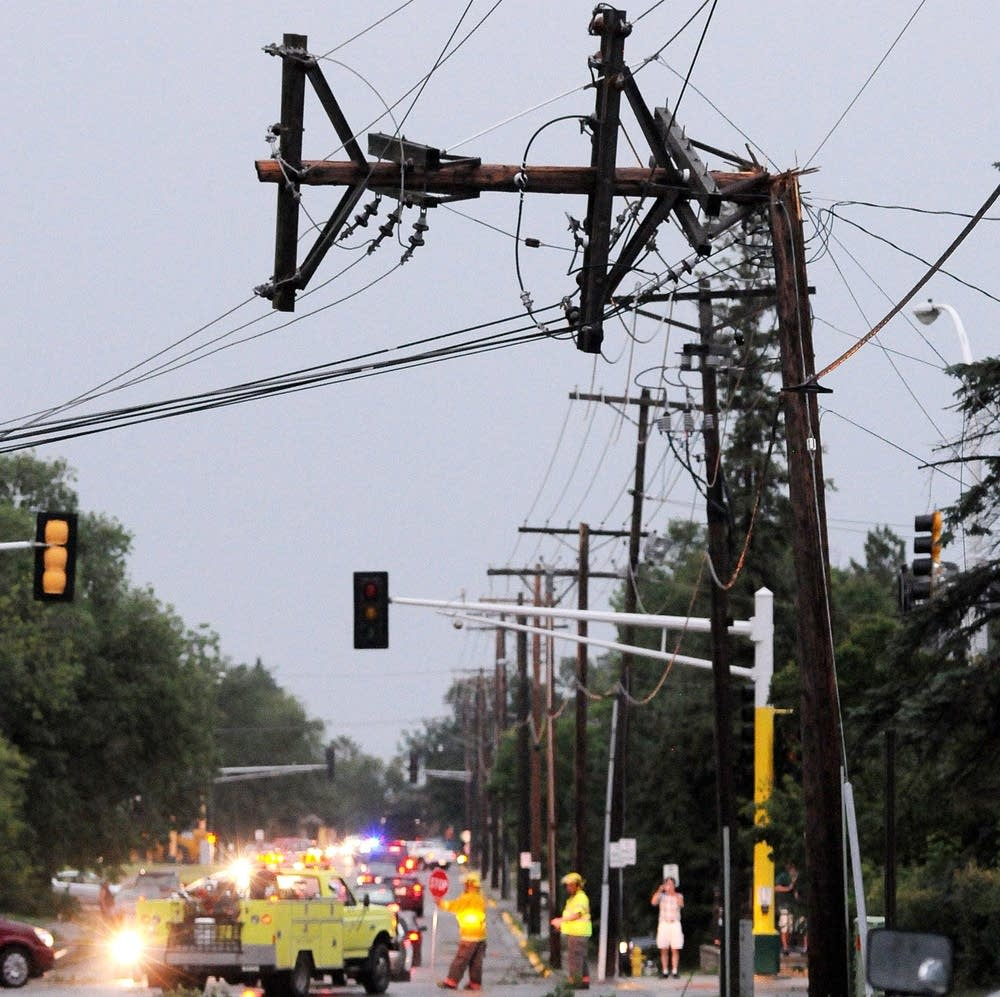Power lines down in Bemidji