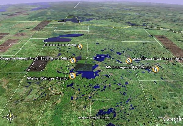 Aerial view of Chippewa National Forest