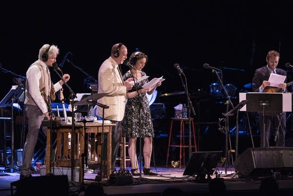 Fred Newman, Tim Russell, Serena Brook and Chris Thile.