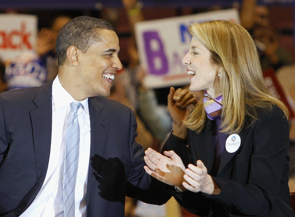 Barack Obama and Caroline Kennedy