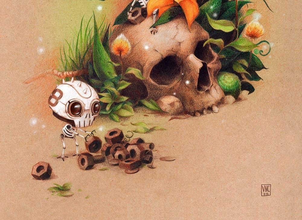 Detail from image by British artist Vero Navarro
