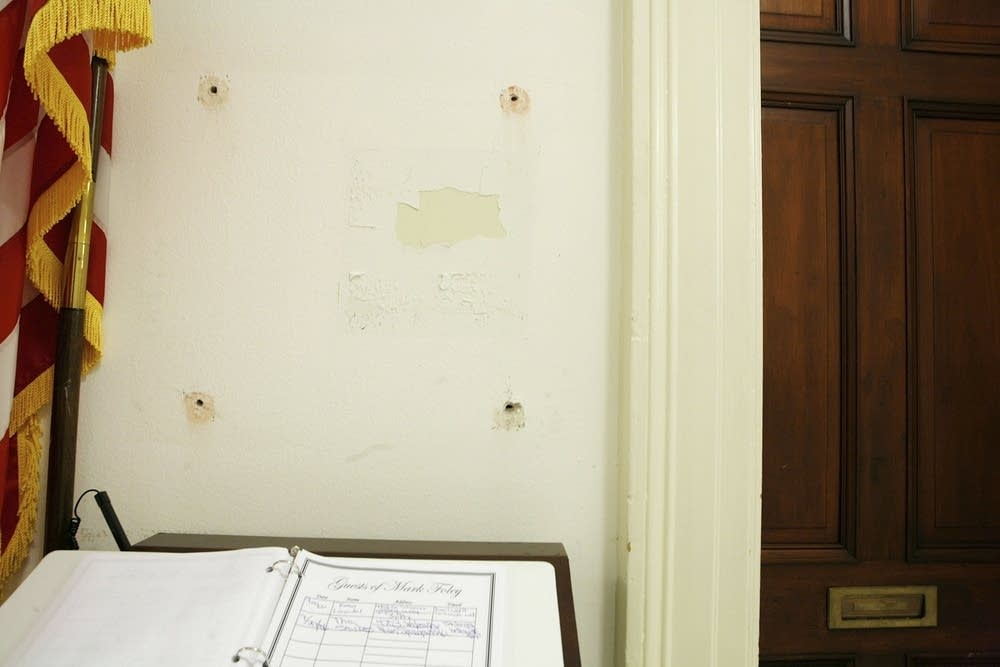 Former U.S. Rep. Mark Foley's name plaque is gone
