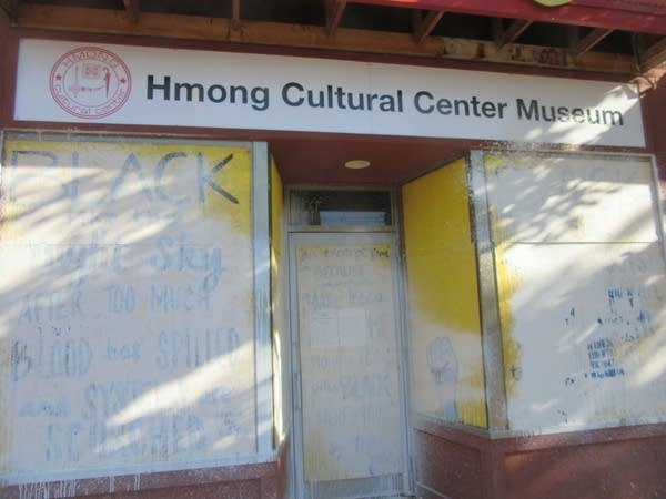 Hmong Cultural Center Museum defaced in white spray paint