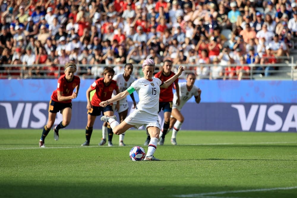 Megan Rapinoe in action for Team USA
