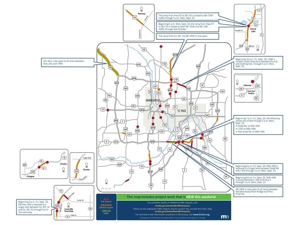 I-694, I-494 west closures top Twin Cities weekend road woes ... on interstate 526 map, new jersey route 1 map, interstate 80 map, interstate 44 map, interstate 27 map, interstate 75 map, interstate highway map, interstate 70 map, interstate 25 map, interstate 85 map, interstate 26 map, lincoln way map, interstate map of mississippi and alabama, us highway 78 map, interstate 30 map, interstate 422 map, interstate 10 map, interstate 74 map,