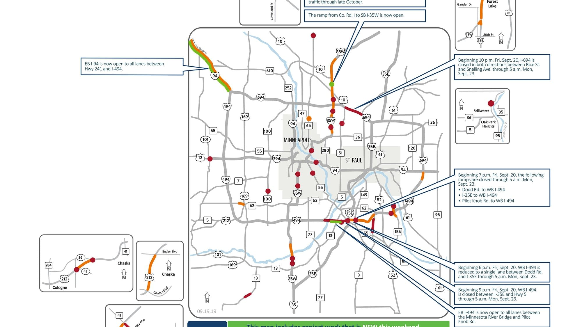 I-694, I-494 west closures top Twin Cities weekend road woes ... on lincoln way map, interstate 27 map, interstate 26 map, interstate 30 map, interstate map of mississippi and alabama, interstate 85 map, interstate 10 map, interstate 80 map, interstate 422 map, interstate 44 map, interstate 25 map, interstate 526 map, interstate 75 map, new jersey route 1 map, interstate 70 map, interstate highway map, interstate 74 map, us highway 78 map,