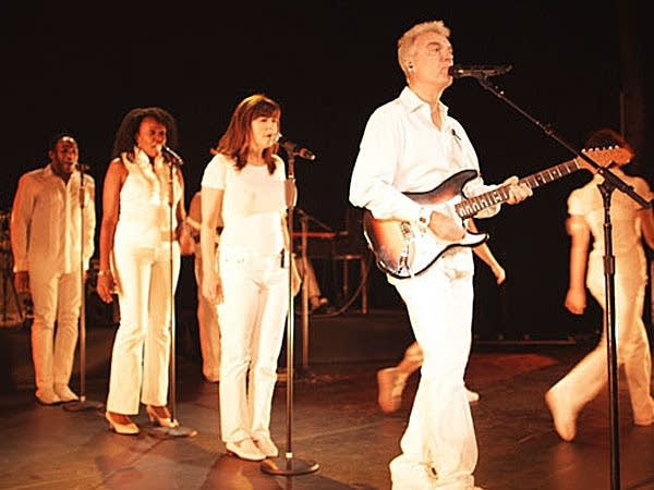 David Byrne and crew