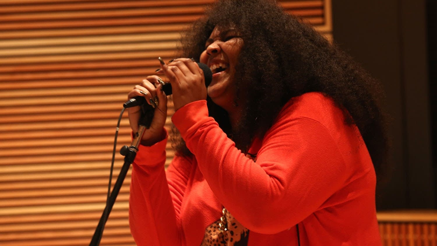 Lizzo performs in The Current studio 2