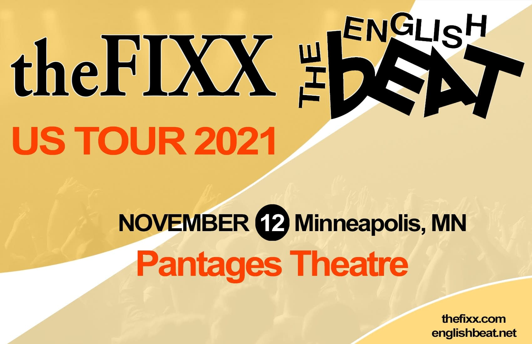 The Fixx The English Beat concert graphic